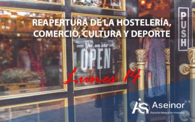 REAPERTURA DE HOSTELERIA